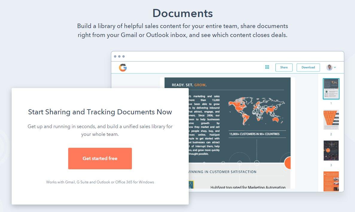Hubspot Document Feature